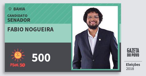 Santinho Fabio Nogueira 500 (PSOL) Senador | Bahia | Eleições 2018