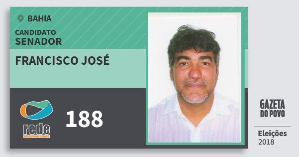 Santinho Francisco José 188 (REDE) Senador   Bahia   Eleições 2018