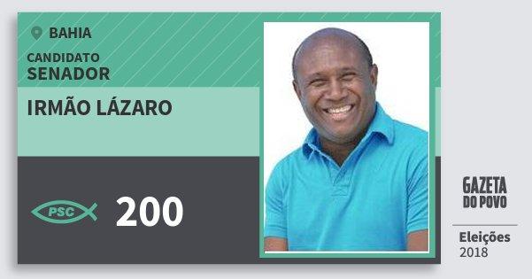 Santinho Irmão Lázaro 200 (PSC) Senador | Bahia | Eleições 2018