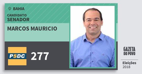 Santinho Marcos Mauricio 277 (DC) Senador | Bahia | Eleições 2018