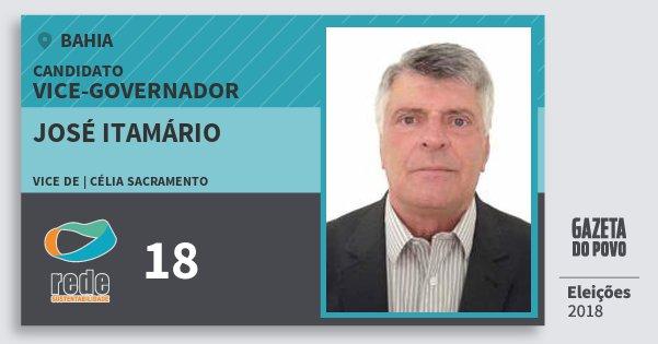 Santinho José Itamário 18 (REDE) Vice-governador | Bahia | Eleições 2018