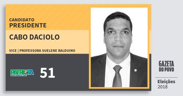 Santinho Cabo Daciolo 51 (PATRI) Presidente | Brasil | Eleições 2018