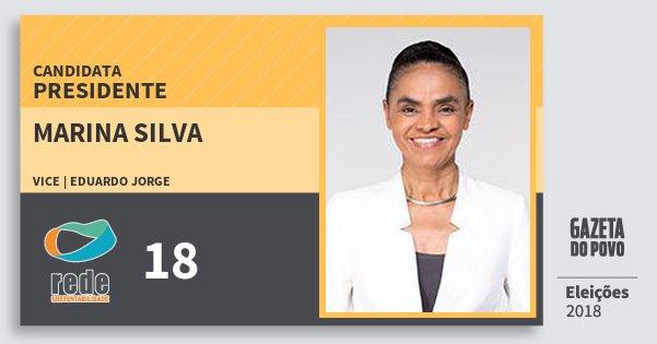Santinho Marina Silva 18 (REDE) Presidente | Brasil | Eleições 2018