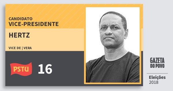 Santinho Hertz 16 (PSTU) Vice-presidente | Brasil | Eleições 2018