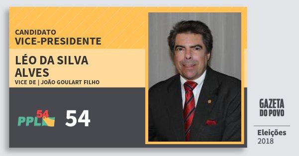 Santinho Léo da Silva Alves 54 (PPL) Vice-presidente | Brasil | Eleições 2018