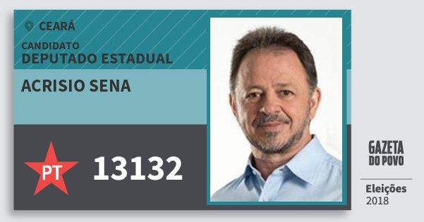 Santinho Acrisio Sena 13132 (PT) Deputado Estadual | Ceará | Eleições 2018