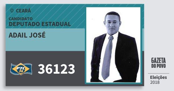 Santinho Adail José 36123 (PTC) Deputado Estadual   Ceará   Eleições 2018