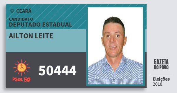 Santinho Ailton Leite 50444 (PSOL) Deputado Estadual | Ceará | Eleições 2018