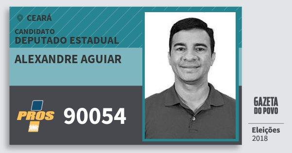 Santinho Alexandre Aguiar 90054 (PROS) Deputado Estadual | Ceará | Eleições 2018