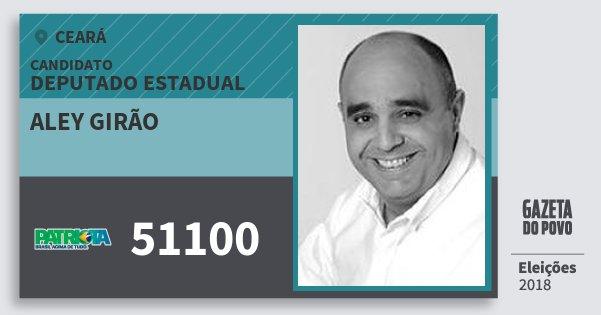 Santinho Aley Girão 51100 (PATRI) Deputado Estadual | Ceará | Eleições 2018