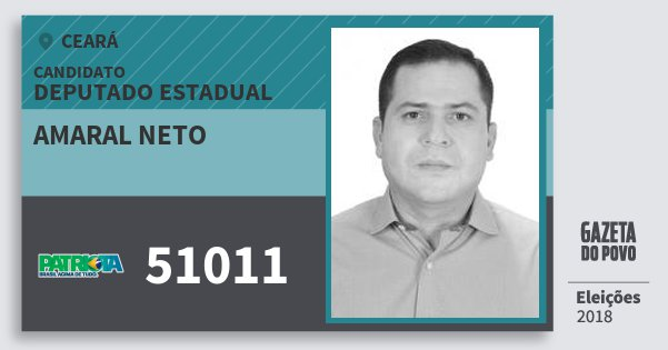 Santinho Amaral Neto 51011 (PATRI) Deputado Estadual   Ceará   Eleições 2018