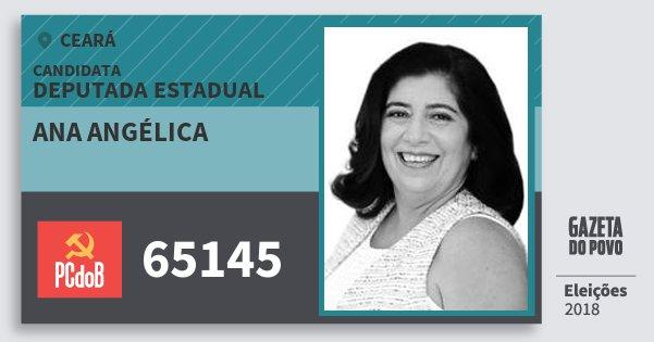 Santinho Ana Angélica 65145 (PC do B) Deputada Estadual | Ceará | Eleições 2018