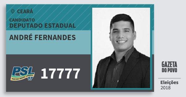 Santinho André Fernandes 17777 (PSL) Deputado Estadual | Ceará | Eleições 2018