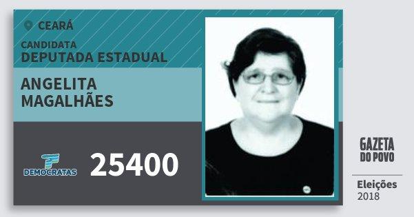 Santinho Angelita Magalhães 25400 (DEM) Deputada Estadual | Ceará | Eleições 2018