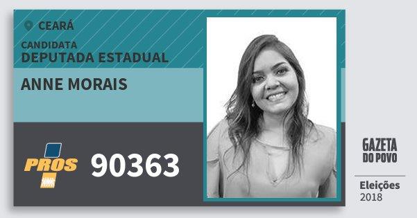 Santinho Anne Morais 90363 (PROS) Deputada Estadual | Ceará | Eleições 2018