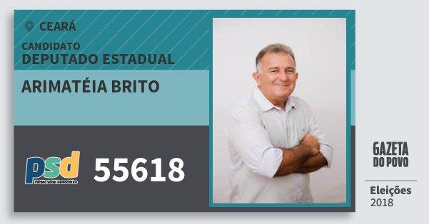 Santinho Arimatéia Brito 55618 (PSD) Deputado Estadual | Ceará | Eleições 2018