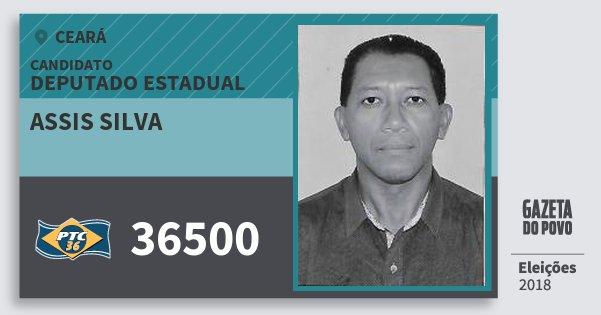 Santinho Assis Silva 36500 (PTC) Deputado Estadual | Ceará | Eleições 2018