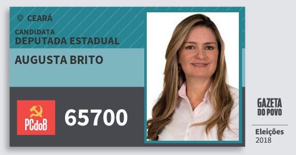 Santinho Augusta Brito 65700 (PC do B) Deputada Estadual | Ceará | Eleições 2018
