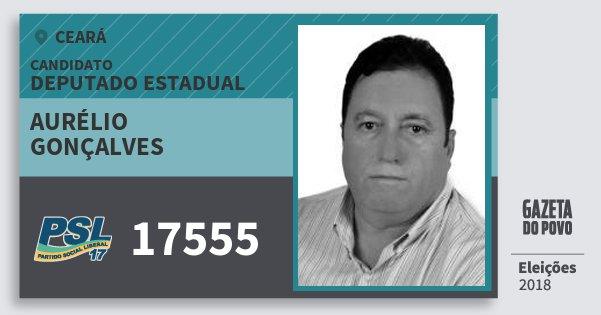Santinho Aurélio Gonçalves 17555 (PSL) Deputado Estadual | Ceará | Eleições 2018