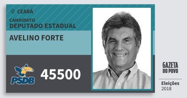 Santinho Avelino Forte 45500 (PSDB) Deputado Estadual | Ceará | Eleições 2018