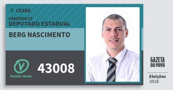 Santinho Berg Nascimento 43008 (PV) Deputado Estadual | Ceará | Eleições 2018