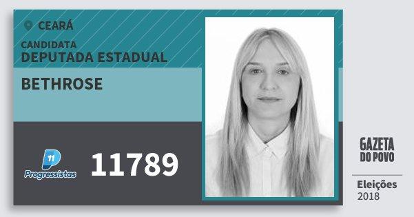 Santinho Bethrose 11789 (PP) Deputada Estadual | Ceará | Eleições 2018