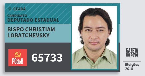 Santinho Bispo Christiam Lobatchevsky 65733 (PC do B) Deputado Estadual | Ceará | Eleições 2018
