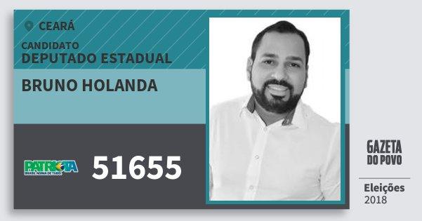 Santinho Bruno Holanda 51655 (PATRI) Deputado Estadual | Ceará | Eleições 2018