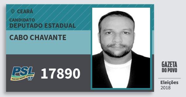 Santinho Cabo Chavante 17890 (PSL) Deputado Estadual | Ceará | Eleições 2018