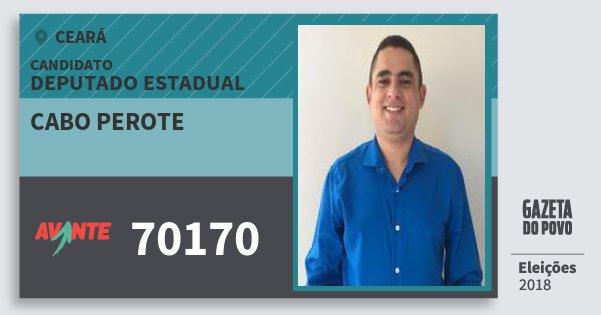 Santinho Cabo Perote 70170 (AVANTE) Deputado Estadual | Ceará | Eleições 2018