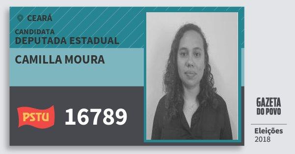 Santinho Camilla Moura 16789 (PSTU) Deputada Estadual | Ceará | Eleições 2018