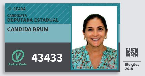 Santinho Candida Brum 43433 (PV) Deputada Estadual | Ceará | Eleições 2018