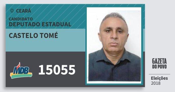 Santinho Castelo Tomé 15055 (MDB) Deputado Estadual | Ceará | Eleições 2018