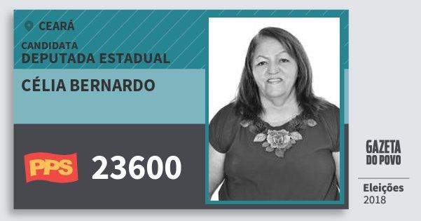 Santinho Célia Bernardo 23600 (PPS) Deputada Estadual | Ceará | Eleições 2018