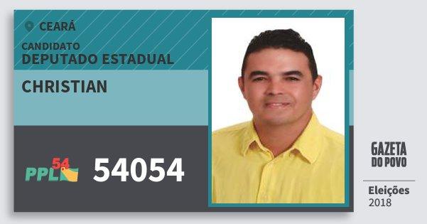 Santinho Christian 54054 (PPL) Deputado Estadual | Ceará | Eleições 2018