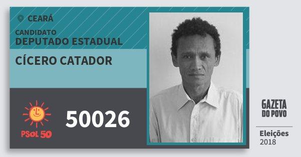 Santinho Cícero Catador 50026 (PSOL) Deputado Estadual | Ceará | Eleições 2018