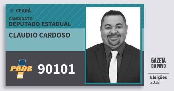 Santinho Claudio Cardoso 90101 (PROS) Deputado Estadual | Ceará | Eleições 2018