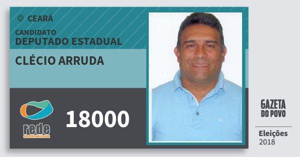 Santinho Clécio Arruda 18000 (REDE) Deputado Estadual | Ceará | Eleições 2018