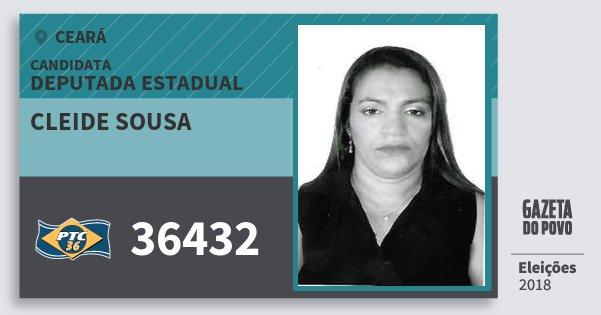 Santinho Cleide Sousa 36432 (PTC) Deputada Estadual | Ceará | Eleições 2018
