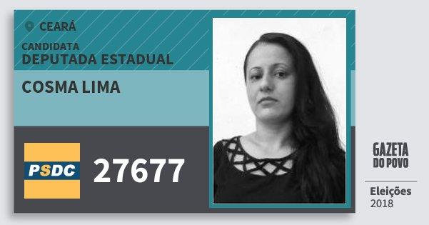 Santinho Cosma Lima 27677 (DC) Deputada Estadual | Ceará | Eleições 2018