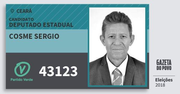 Santinho Cosme Sergio 43123 (PV) Deputado Estadual | Ceará | Eleições 2018