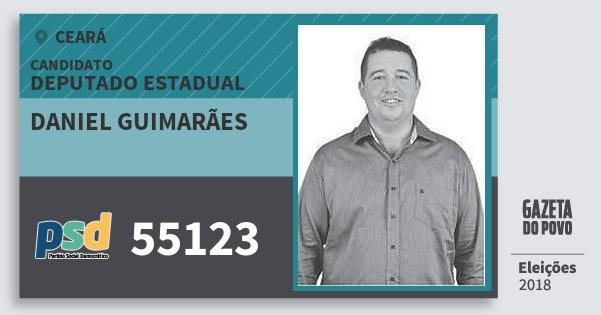 Santinho Daniel Guimarães 55123 (PSD) Deputado Estadual | Ceará | Eleições 2018