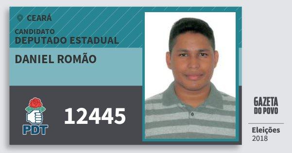Santinho Daniel Romão 12445 (PDT) Deputado Estadual | Ceará | Eleições 2018