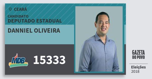 Santinho Danniel Oliveira 15333 (MDB) Deputado Estadual | Ceará | Eleições 2018