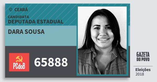 Santinho Dara Sousa 65888 (PC do B) Deputada Estadual | Ceará | Eleições 2018