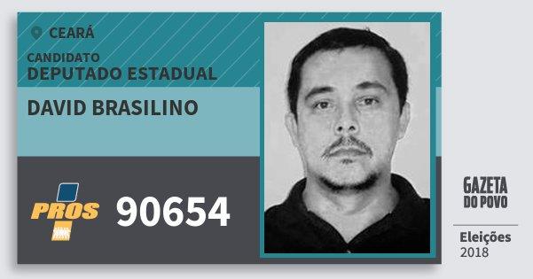 Santinho David Brasilino 90654 (PROS) Deputado Estadual | Ceará | Eleições 2018