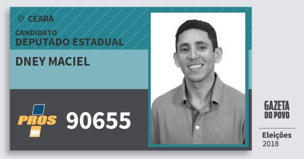 Santinho Dney Maciel 90655 (PROS) Deputado Estadual | Ceará | Eleições 2018