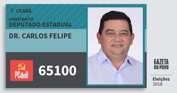 Santinho Dr. Carlos Felipe 65100 (PC do B) Deputado Estadual | Ceará | Eleições 2018