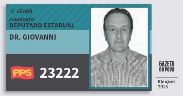 Santinho Dr. Giovanni 23222 (PPS) Deputado Estadual | Ceará | Eleições 2018