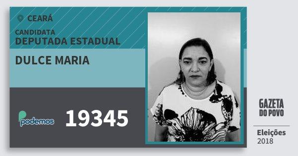Santinho Dulce Maria 19345 (PODE) Deputada Estadual | Ceará | Eleições 2018